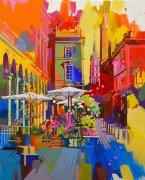 À l'ombre des parasols, Toulouse - 100x81cm