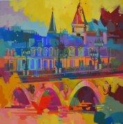Ce si beau pont - Bordeaux - 80x80cm