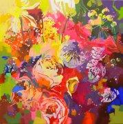 Fleurs, Besoin de couleurs - 80x80cm