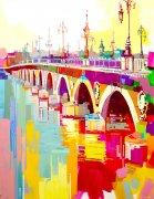 Le pont de Pierre, Bordeaux - 130x97cm