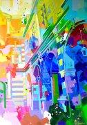 Sous les arcades - 116x81cm