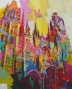 Vers la lumière, Rouen - 61x50cm