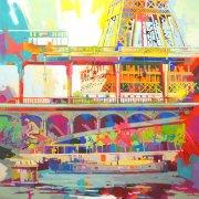 Tour Eiffel - 100x100cm